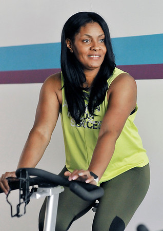 John P. Cleary   The Herald Bulletin<br /> Taffanie Stonewall, instructor at the YMCA.