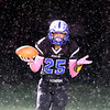 John P. Cleary | The Herald Bulletin<br /> APA's Lanson Jones looks toward his teammates after scoring a 50 yard touchdown on the first offensive play of the game for the Jets.