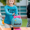 Don Knight | The Herald Bulletin<br /> Makenna Lyon races her pumpkin during Pumpkin Palooza at Anderson High School on Saturday. Lyon won the freestyle division.