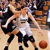 John P. Cleary | The Herald Bulletin<br /> Lapel vs Pendleton Hts. in girls basketball. Kailyn Graham drives into the lane.