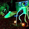 Submitted photo of the Halloween display at 1202 Maryland Drive at night.
