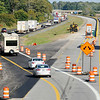 Don Knight | The Herald Bulletin<br /> Northbound traffic is split with one lane being diverted onto the southbound side during I-69 construction on Wednesday.