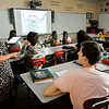 John P. Cleary | The Herald Bulletin<br /> Michelle Burnett teaches her Algebra 2 class at Alexandria-Monroe High School recently. Alexandria Community Schools was the only school district that improved their ISTEP+ scores across the board at all grade levels.