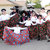 Don Knight | For The Herald Bulletin<br /> The Ballet Folklórico dancers wear Day of the Dead makeup for their dance during the Hispanic Heritage Fiesta at the Madison County Community Health Center on Saturday.