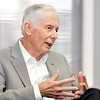 John P. Cleary | The Herald Bulletin<br /> Chuck Staley is retiring as CEO of the Flagship Enterprise Center.