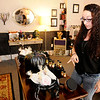 Don Knight | The Herald Bulletin<br /> Brytneigh Burgess talks about items that are part of the stores Twisted Twigs fall collection.