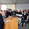 John P. Cleary | The Herald Bulletin<br /> Luca Bonini, CEO of Italpollina, addresses the crowd gathered for the grand opening of their new production facility in Anderson Friday.