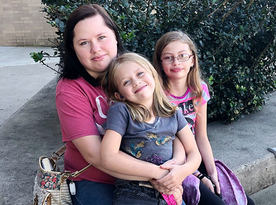 Yolonda Wilson, daughter Shellby Wilson, 7,and Lilly Wilson 10.