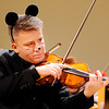 Don Knight | The Herald Bulletin<br /> An ASO violinist dressed as a mouse for the symphony's Halloween Pops Concert at the Paramount on Saturday.