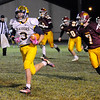 Don Knight | The Herald Bulletin<br /> Shenandoah's Gabe Young busts loose on a 58 yard touchdown run against Alexandria on Friday.