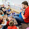 Don Knight | The Herald Bulletin<br /> Frankton Elementary Assistant Principal Joe Bowman talks to students  in Jessica Patton's fourth grade class about items in their amygdala reset station.