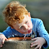 John P. Cleary | The Herald Bulletin<br /> Four-year-old Eli Middlebrooks takes a break from playing with friends in Elwood's Callaway Park Monday afternoon to get a refreshing drink of water.