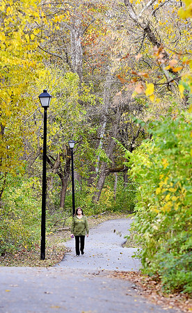 With calm winds and temperatures in the upper 50's, Shadyside Park was a good place to take an afternoon walk under a canopy color from the turning foliage before more rain and cold winds move in the next several days.