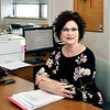 John P. Cleary | The Herald Bulletin<br /> Leslie Sadler, advertising director The Herald Bulletin, is a breast cancer survivor.