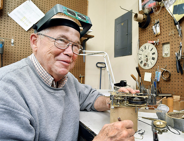 "Joe Remington, of the Alexandria Clock Shop, says about closing the business, ""it's just time to move on, I think, I've done it for 40 years, and I've met a lot of  nice people, but we're just getting tired."""