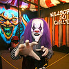 Icky the Clown greets you as you enter Killgore's 3D Circus at Indy Scream Park, one of five different haunted attractions at the venue.