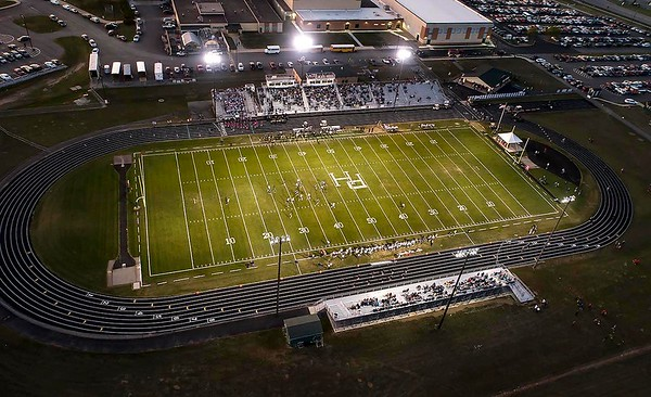 Pendleton Heights hosted Delta on Friday under the lights.