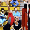 Frankton's Kate Sperry winds up for her 1,000th kill of her high school career against Liberty Christian in the second set of their match Tuesday evening.