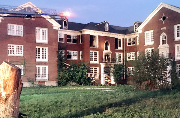 The west wing of Delaware Court Apartments downtown was substantially damaged in an early Thursday morning fire, according to Anderson Fire Chief Dave Cravens. While the building wasn't technically occupied, a passer-by saw two men climb out of a ground floor window and walk away.
