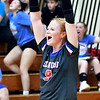 Elwood's Kaylee Guillemette celebrates a hard earned point.