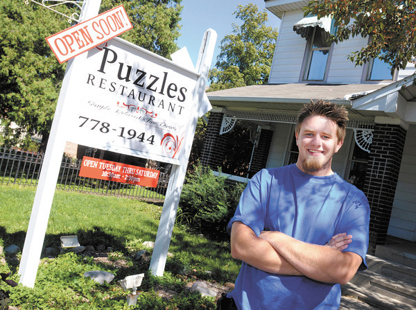 Chef Trenton Parker hopes to have Puzzles Restaurant renovated and open for business in Pendleton by the end of October. Parker owns the new eatery with his mom Amanda.