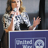"Dana Donahue announces United Way's ""Bank On"" program during the United Way of Madison County Community Campaign Kick-Off Event at Hoosier Park on Tuesday."