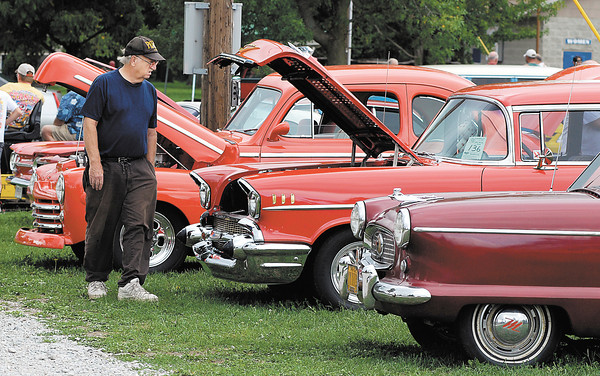 Despite the weather about a dozen cars showed up the car show as part of the Madison County Solidarity Labor Day Picnic.