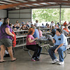 Despite the weather a large crowd came out for the Madison County Solidarity Labor Day Picnic and Car Show.