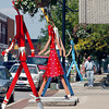 All the Walking Man figures have been placed downtown along Meridian Street in preparation for the upcoming festival this Saturday.