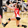 Frankton's Hannah Thomas passes the ball as the Broncos hosted the Eagles on Tuesday.