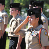 The Anderson High School ROTC unit held a 9/11 ceremony Tuesday in front of the school at the flagpole.
