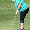 Anderson's Morgan Nadaline putts on the fifth green at Grandview as Anderson faced Lapel on Wednesday.