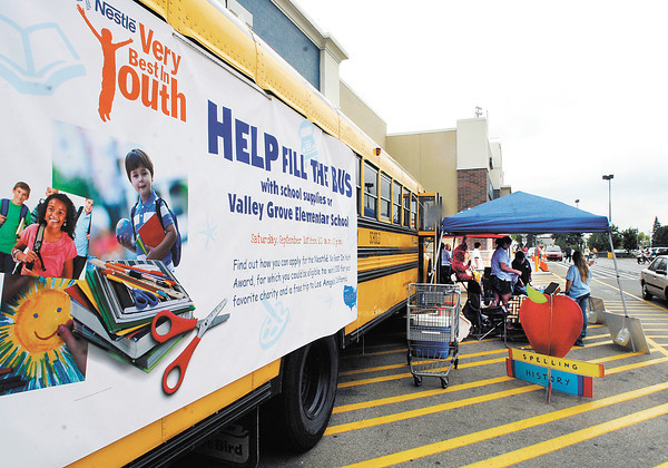 Help Fill the Bus drive was held at the Anderson Wal-Mart Saturday to receive donations of school supplies for Valley Grove Elementary School.