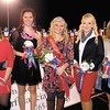 Elwood High School Homecoming queen and her court, named at halftime, are Danielle Robertson, Madelyn Smith, homecoming queen Madeline Helpling, Whitney Campbell, and Hope Fred.