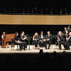 From left, Michele Murray, Emily Stanek, Pamela French, Rebecca Chappell, Joseph Scagnoli Jr., John Williams, Adam McDaniel, Garry Wasserman and Melvin Chappell perform during the Gala Concert to mark the dedication of the York Performance Hall and Galleries at Anderson University on Saturday.