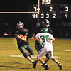 Pendleton Heights halfback Jon Furrow brings the ball downfield for the Arabians during second quarter action of Friday night's game against New Castle.