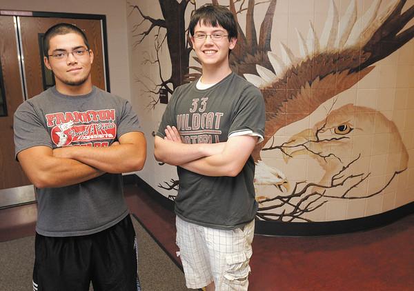Frankton High School AP Scholars Zach Turner, left, and Blake Michael.