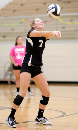 Daleville's Jayda Morris passes the ball as the Broncos hosted the Eagles on Tuesday.