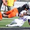 Don Knight/The Herald Bulletin<br /> Anderson University defensive back Keiven Stewart tackles Defiance quarterback Sean Washington on Saturday.