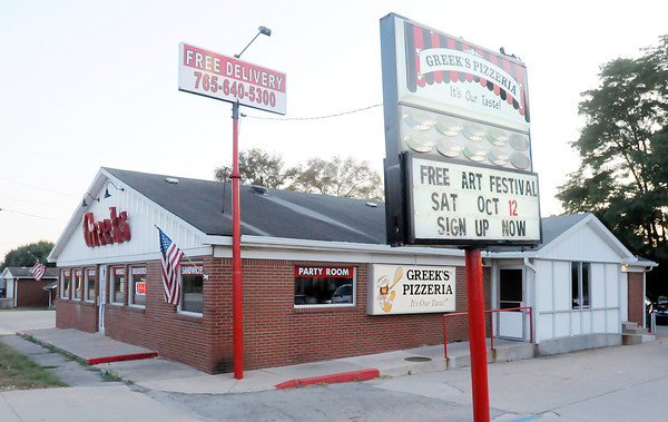 Don Knight/The Herald Bulletin<br /> Greeks Pizzeria moved into the former Red Brick in location on Dr. Martin Luther King Jr. Boulevard early last year.