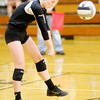 Don Knight/The Herald Bulletin<br /> Alexandria's Abigail Miller passes the ball as the Tigers hosted Wapahani on Thursday.