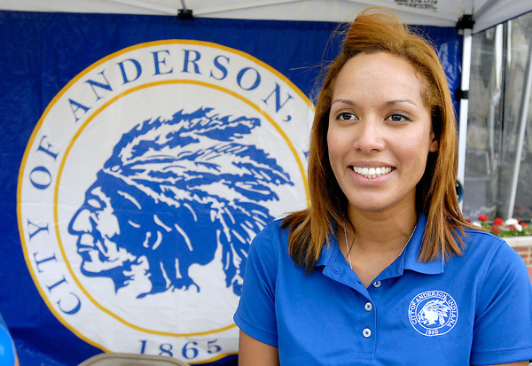 Charlee Turner on her last day as PIO for the city of Anderson last Saturday at the city-wide Community Day at Town Center Park.