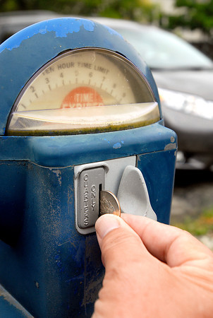 The parking meters in the downtown lot at 10th & Meridian Streets have been notoriously balky, sometimes working, sometimes not.  The most common reason for not working properly, according to Jeff Delong maintenance supervisor for the Anderson Police Department, is people putting in nickels and dimes into the meters instead of only quarters.