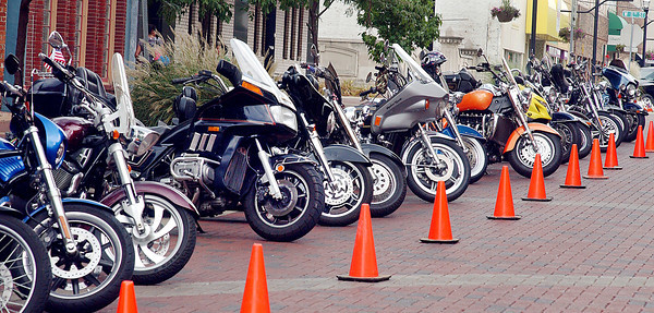 Meridian Street was lined with motorcycles as a bike show was part of the city wide Community Day held at Anderson Town Center.