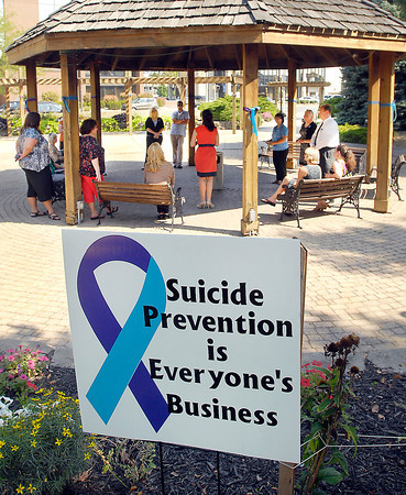 The Madison County Suicide Prevention Coalition held a informational rally Tuesday at Citizens Plaza for National Suicide Prevention Week.