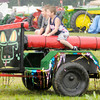 "Don Knight/The Herald Bulletin<br /> From left, Noah and Lijah Hudson ride the ""Sneaky Snake"" at Frankton Heritage Days on Friday. The annual festival continues through Sunday."