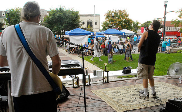 The Under Dogs provided live music during the city wide Community Day held at Anderson Town Center.