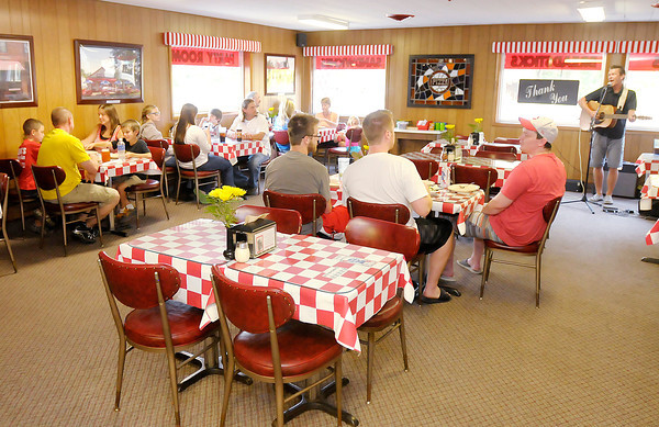 Don Knight/The Herald Bulletin<br /> Greeks Pizzeria has live music on Wednesday from 7 to 8:30 p.m. at their location on Dr. Martin Luther King Jr. Boulevard  in Anderson.