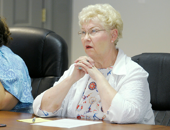 Don Knight   The Herald Bulletin<br /> Georgia Parker, Planning Commission member, voiced concern about the town of Ingalls paying for services they will need to provide if they annex the Summerlake subdivision during a workshop held by the Ingalls Plan Commission on Tuesday.