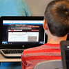 John P. Cleary | The Herald Bulletin<br /> Pendleton Middle School Social Studies teacher Matt Vosburgh's 7th grade class using their laptops in the schools 1:1 technology program.